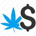 cannabis, crime, drug business, leaf, marijuana, medication, weed icon