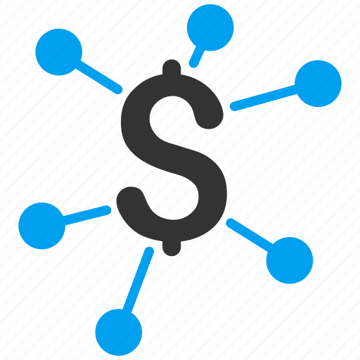 bank system, business, connection, finance, financial links, money, nodes icon