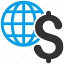 business, earth, economy, global economics, globe, network, world icon