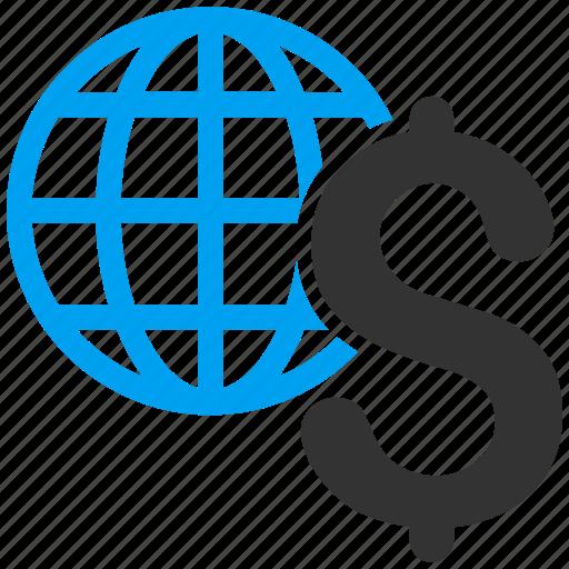 business, earth, economy, global economics, globe, network, world icon