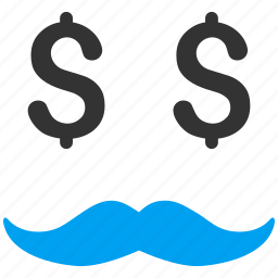 business man, businessman, millionaire, mustache, positive, smile, smiley icon