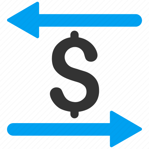 business, exchange, finance, money transactions, replace, swap, sync arrows icon