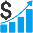analysis, bar chart, charts, graph, growth, sales, success business icon