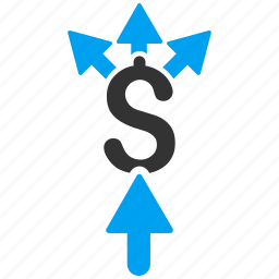 broker, divide, income, money, payments, share payment, split icon