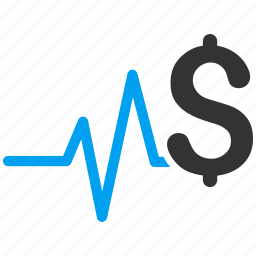 analysis, business, finance, financial pulse, graphs, medicine, pulsation chart icon