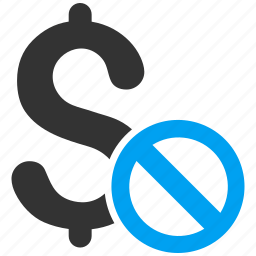 ban, forbidden payment, money, prohibited, restrict, restricted, stop sign icon