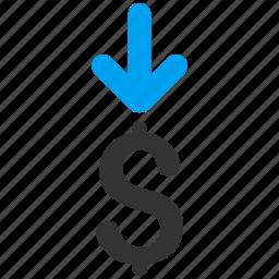deposit, dollar, gain, income, money, payment, profit icon