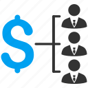 cash flow, financial, payments, people, salary, staff payment, users icon