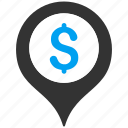bank, gps, location, map marker, navigation, pin, pointer icon