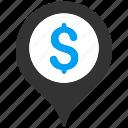 bank, gps, location, map marker, navigation, pin, pointer icon