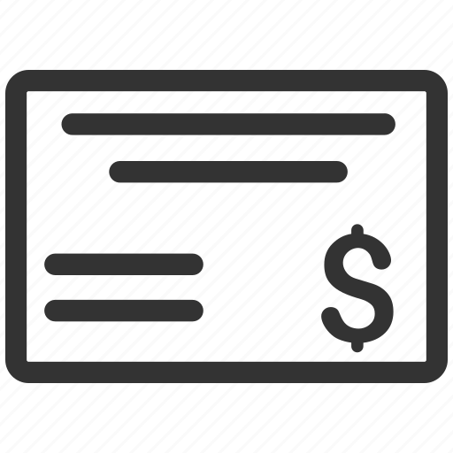 check, checkbook, chequebook, finance, invoice, pay cheque, payment icon