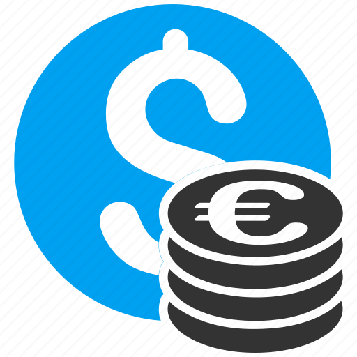 business, cash, coins, currency, dollar, euro, money icon