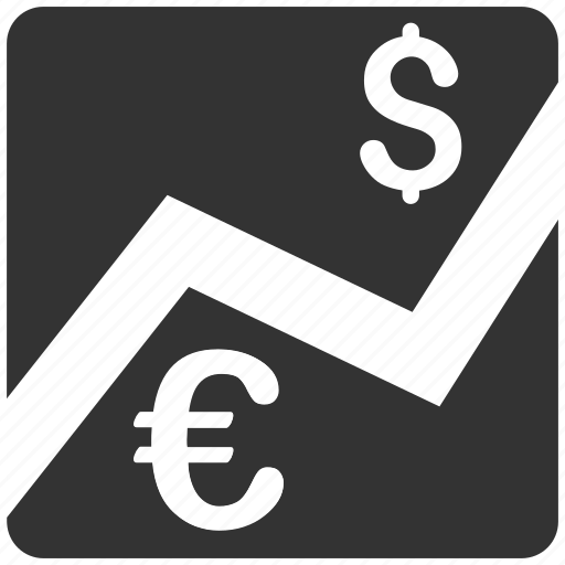 business, currency market, dollar, euro, finance, forex, money icon