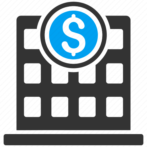 bank building, business center, commercial, corporation, financial company, house, office icon