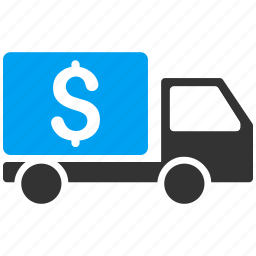 collector car, dollar, finance, money transfer, tax, transport icon