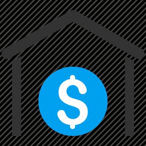 bank building, deposit, dollar, finance, financial center, money, storage icon
