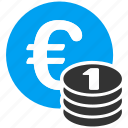 business, coin stack, coins, european, investment, money, one euro