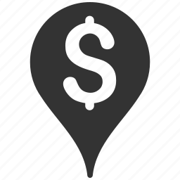 bank, location, map marker, navigation, pin, pointer, position icon