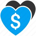 donation, favorite, heart, hearts, like, love, valentine icon