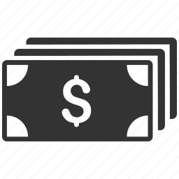 bank bills, banking, business, cash, currency, dollar banknotes, money icon