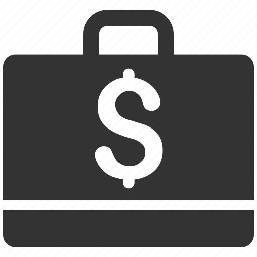 accounting, balance, bookkeeping, briefcase, business case, financial account, money icon