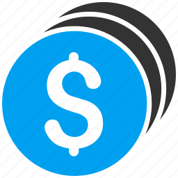 cash, coin stack, coins, currency, finance, money, treasure icon