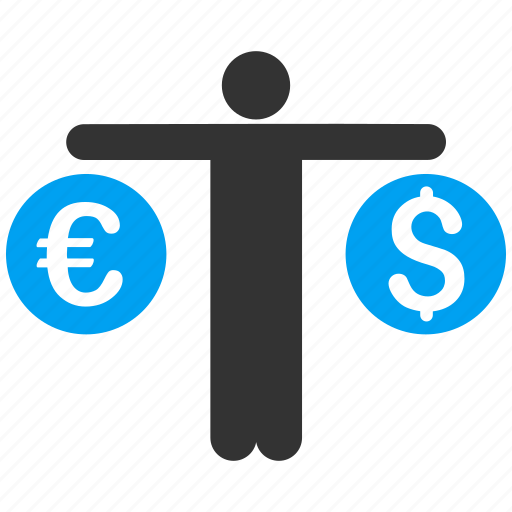 balance, compare, currency exchange, dollar, euro, finance, money icon