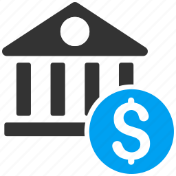 bank building, banking, company, finance, financial center, money, payment icon