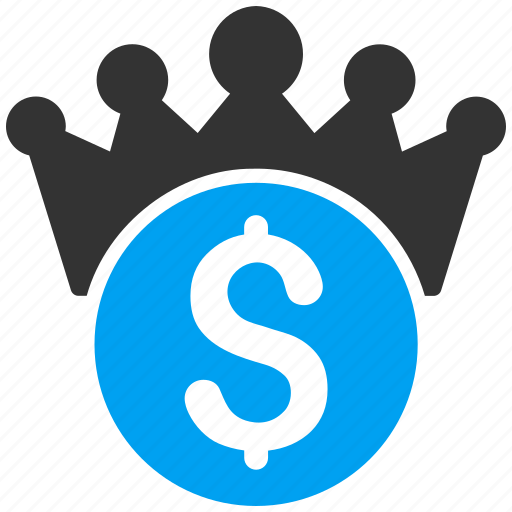 crown, dollar, finance, financial power, imperial, king, lord icon