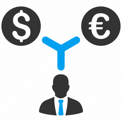 business, currency, dollar, euro, finance, management, money icon