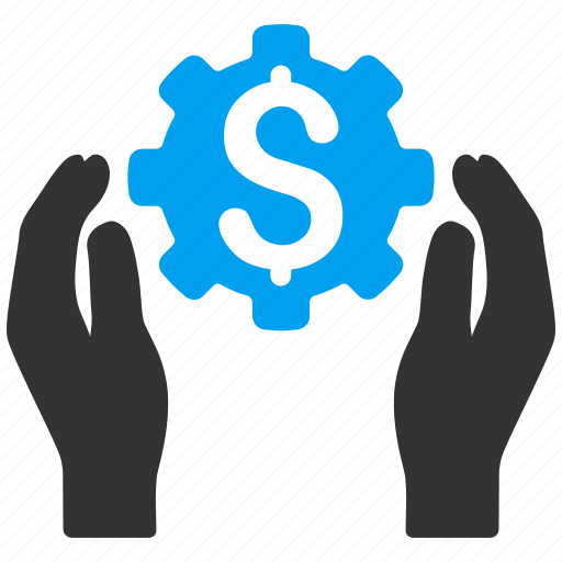 business, hands, insurance options, settings, support, technology, tools icon
