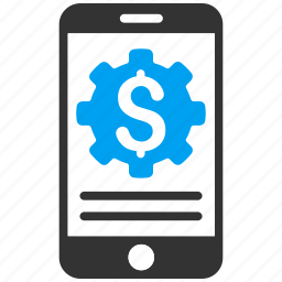 bank service, configuration, mobile banking, payment, phone, preferences, settings icon