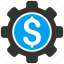 business, financial options, gear, money, preferences, settings, tools icon