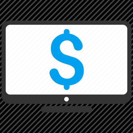 business, desktop pc, display, monitor, monitoring, price, screen icon