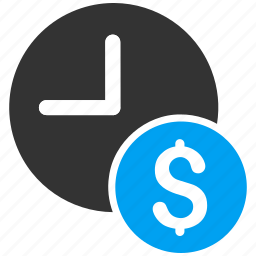banking, clock, dollar credit, finance, money, recurring payments, time icon