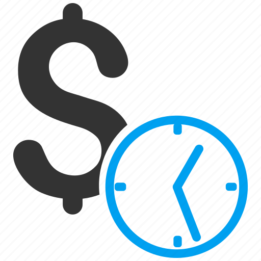 banking, clock, dollar credit, finance, money, recurring payment, time icon