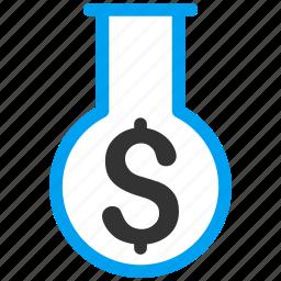 chemical glass, chemistry, finance, financial alchemy, flask, laboratory, science icon