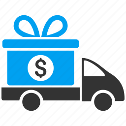 business, delivery, gift, present, shipping, transport, transportation icon