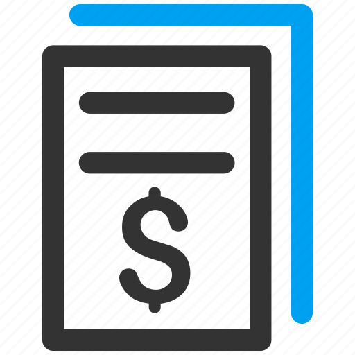 bill, certificate, invoice copy, invoices, order, payment, receipt icon