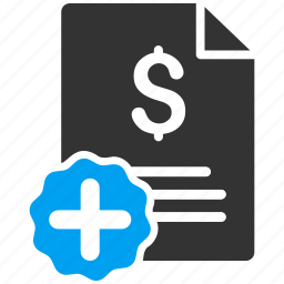 bill, healthcare, medical invoice, medicine, order, payment, receipt icon