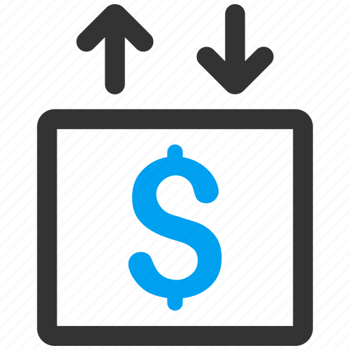 business, elevator, finance, lift, money, transport, up down icon