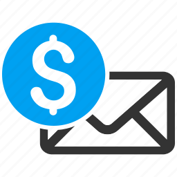 business, email, letter, mail, message, money, payment icon