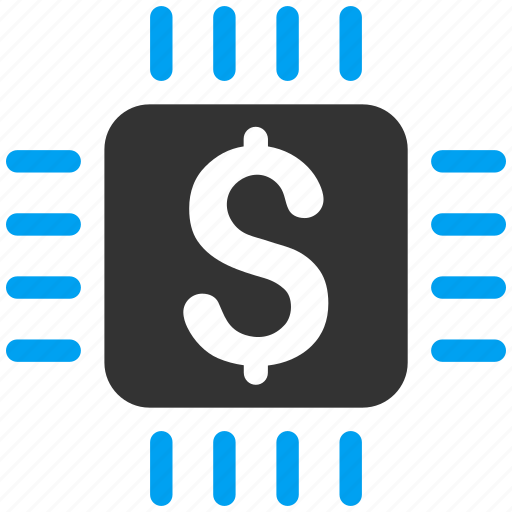 broker, business, chip, dollar, market, money aggregator, payment processor icon