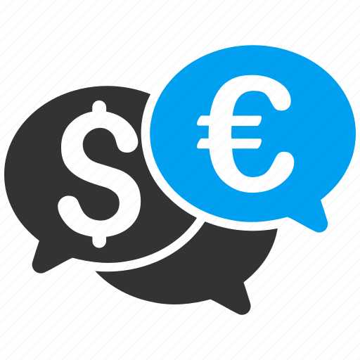 discussion, dollar, euro, financial forum, market, trade, trading icon