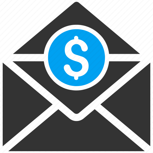 email, envelope, letter, mail order, message, money icon