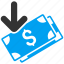 bank notes, banknotes, business, cash, get money, income, payment icon