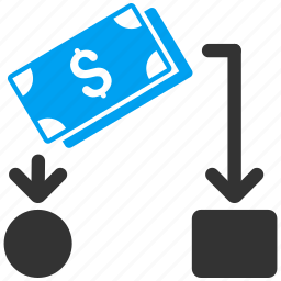 business report, cash flow, diagram, financial chart, flowchart, money, payment scheme icon