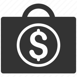bag, banking service, business, expensive baggage, luggage, money, payment icon