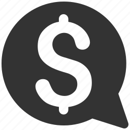 balloon, bid, bubble, dollar, finance, hint, money message icon