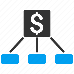 bank links, finance, financial company, hierarchy, payment, project, structure icon